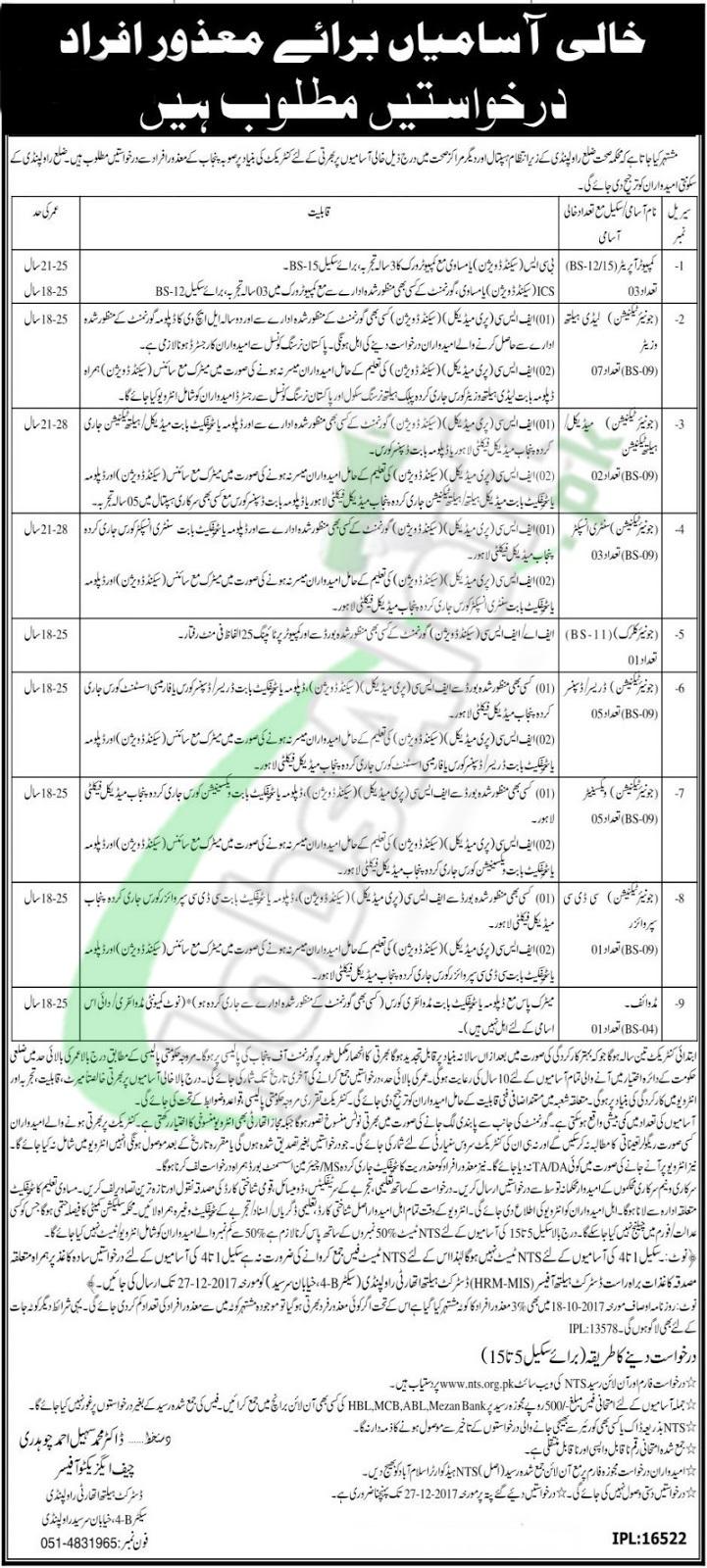 Government Jobs in Rawalpindi