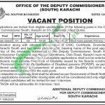 Office of Deputy Commissioner South Karachi Jobs