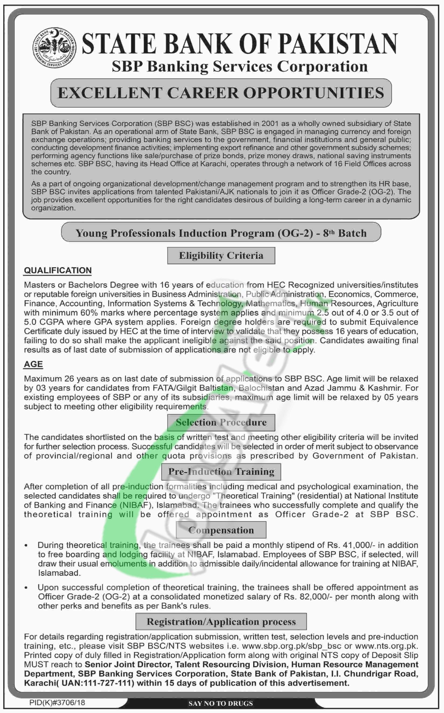 State Bank OG-2 Jobs 2019