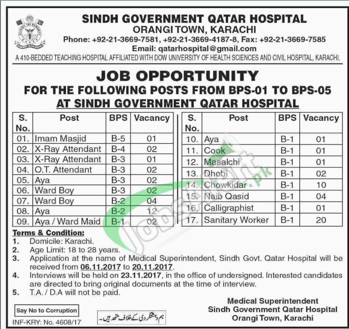 Sindh Govt Qatar Hospital