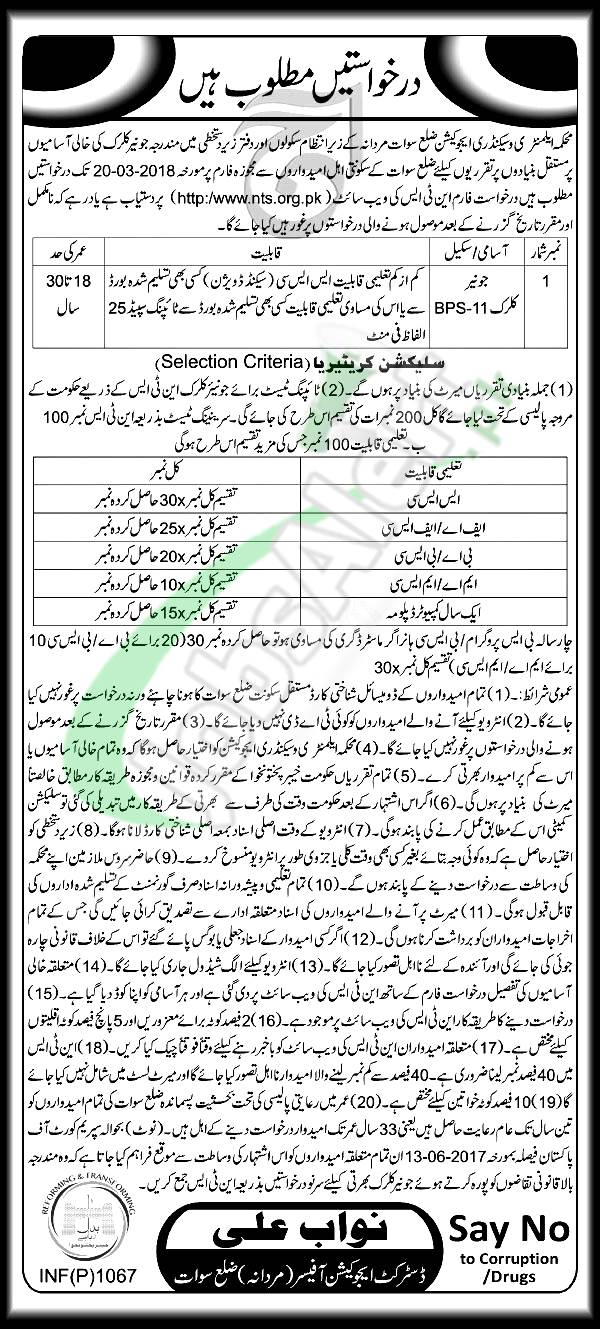 Elementary and Secondary Education Swat Jobs