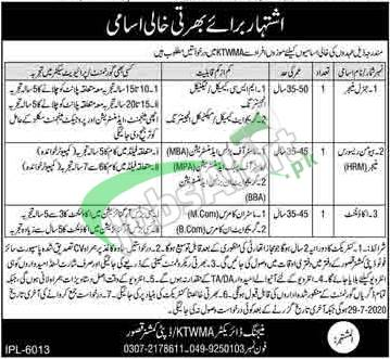 Kasur Tanneries Waste Management Agency Jobs