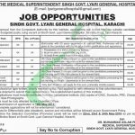 Sindh Government Lyari General Hospital Jobs 2018