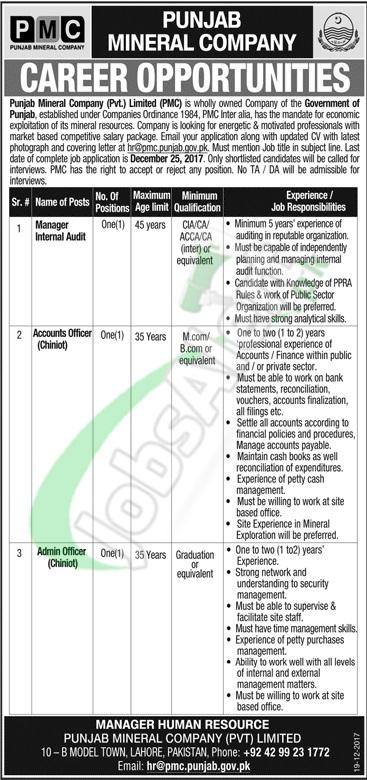 PMC Punjab Job