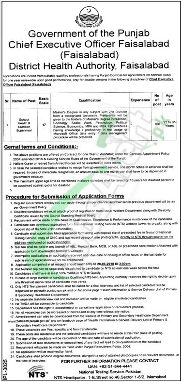 Health Department Faisalabad Jobs