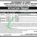 Social Welfare Department Sindh Jobs 2018