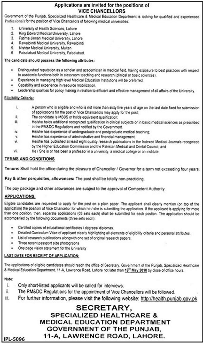 Specialized Healthcare and Medical Education Jobs 2018