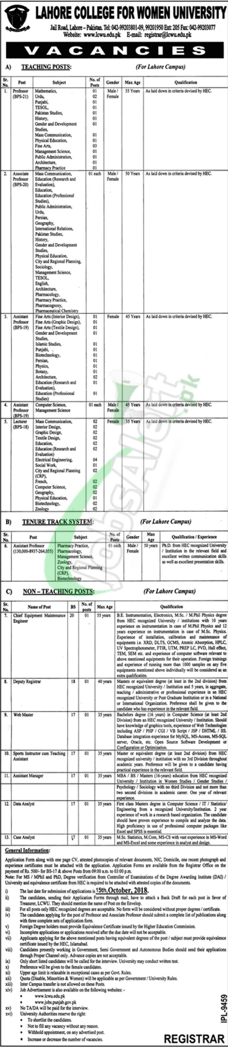 LCWU Jobs