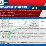 Pak Suzuki Motor Management Trainee Drive 2019
