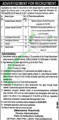 PHA Lahore Jobs