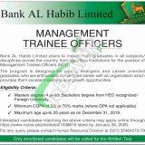 Bank Al Habib Management Trainee