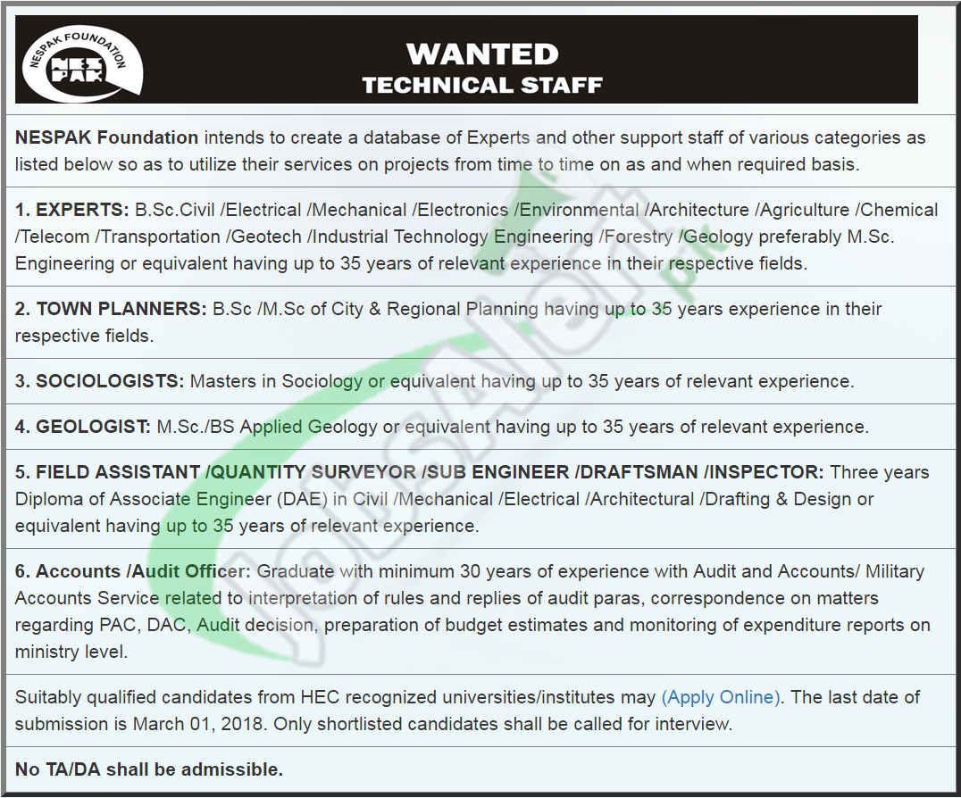 nespak foundation jobs application form online 2018 latest jobs in