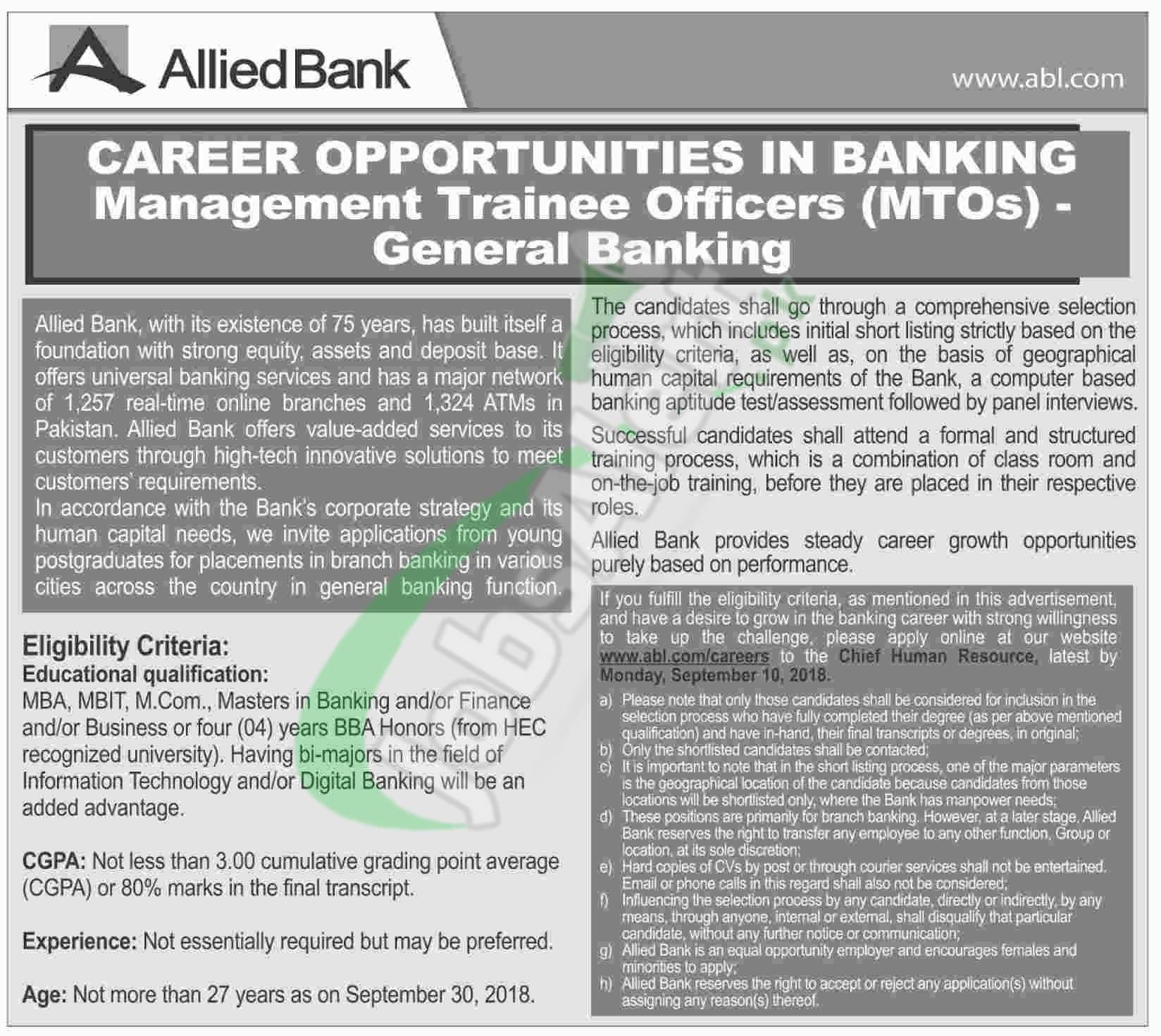 ABL Management Trainee 2018