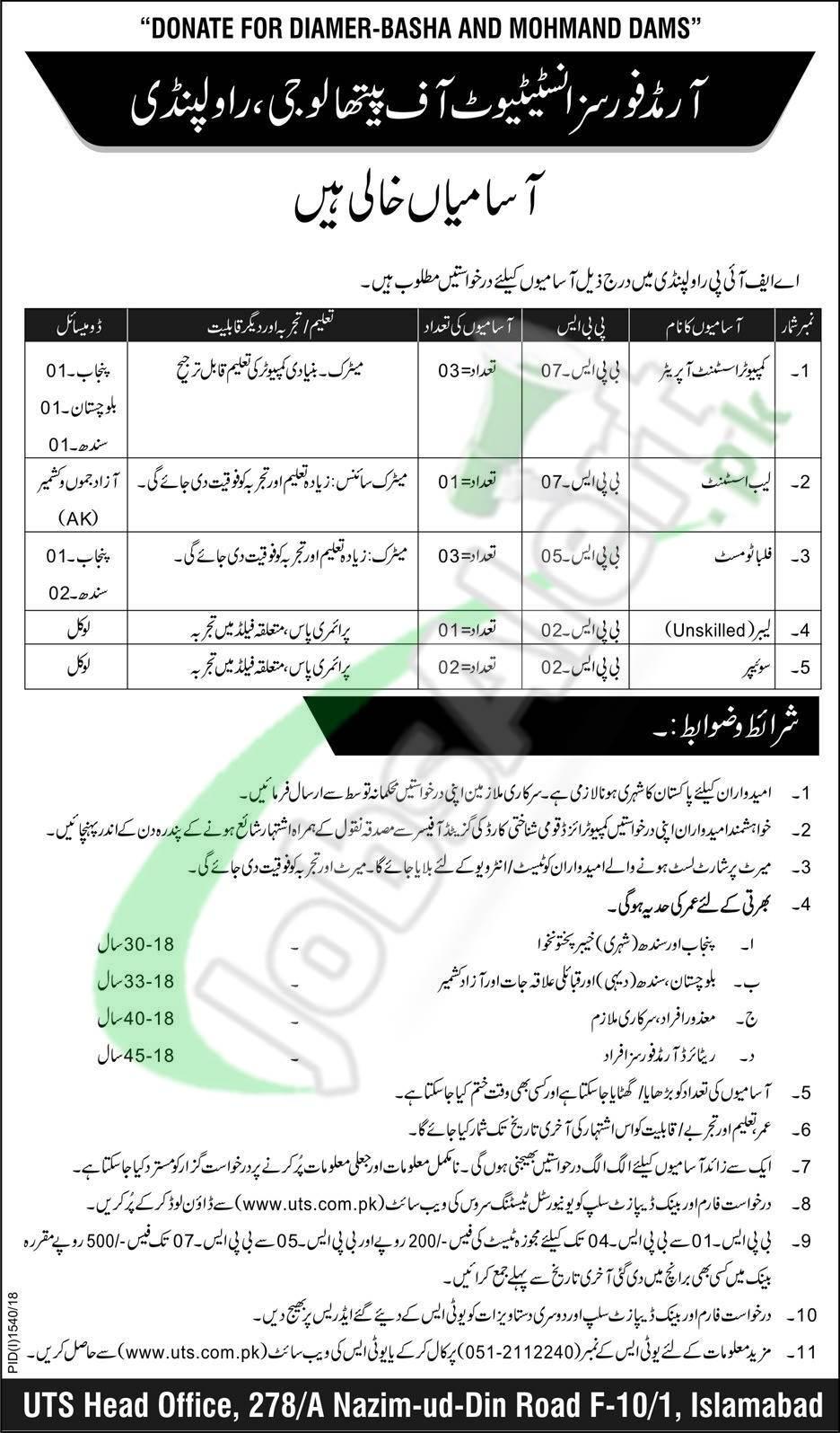 AFIP Rawalpindi Jobs