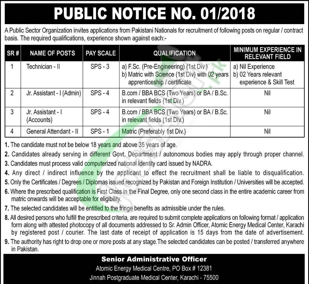 PO Box 12381 Karachi Jobs
