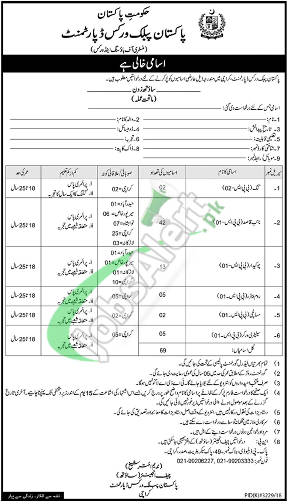 PWD Islamabad Jobs 2019 Pakistan Public Works Department Latest