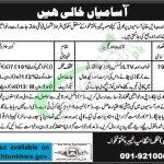 Civil Secretariat Peshawar Jobs 2018