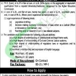 Law and Parliamentary Affairs Department Punjab Jobs