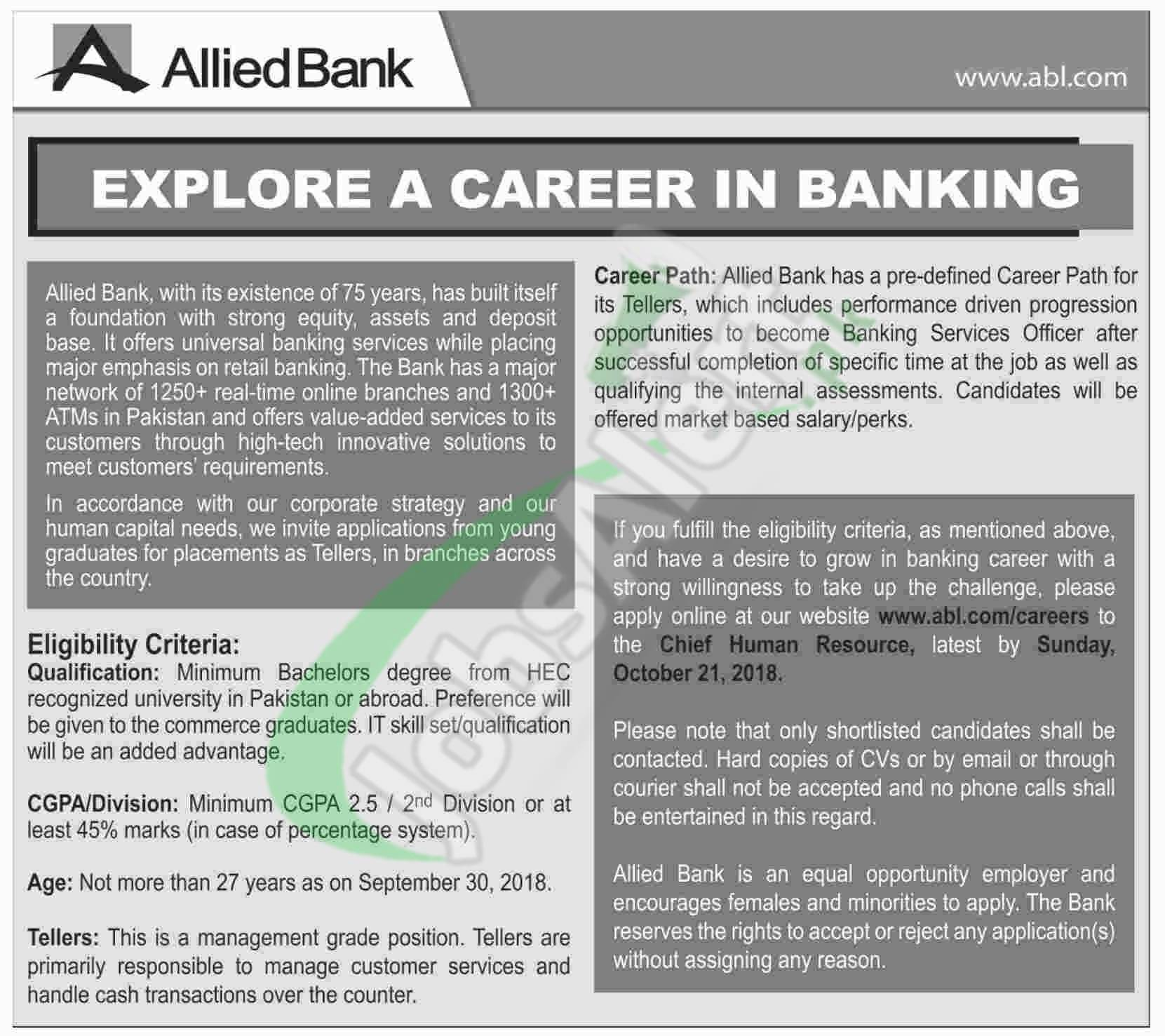 ABL Teller Jobs