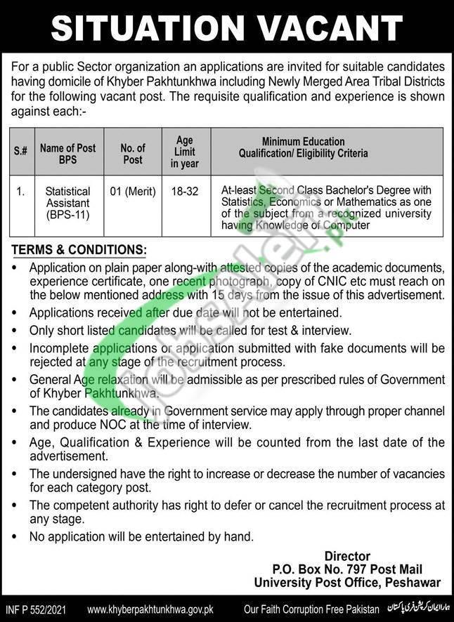 PO Box 797 Peshawar Jobs