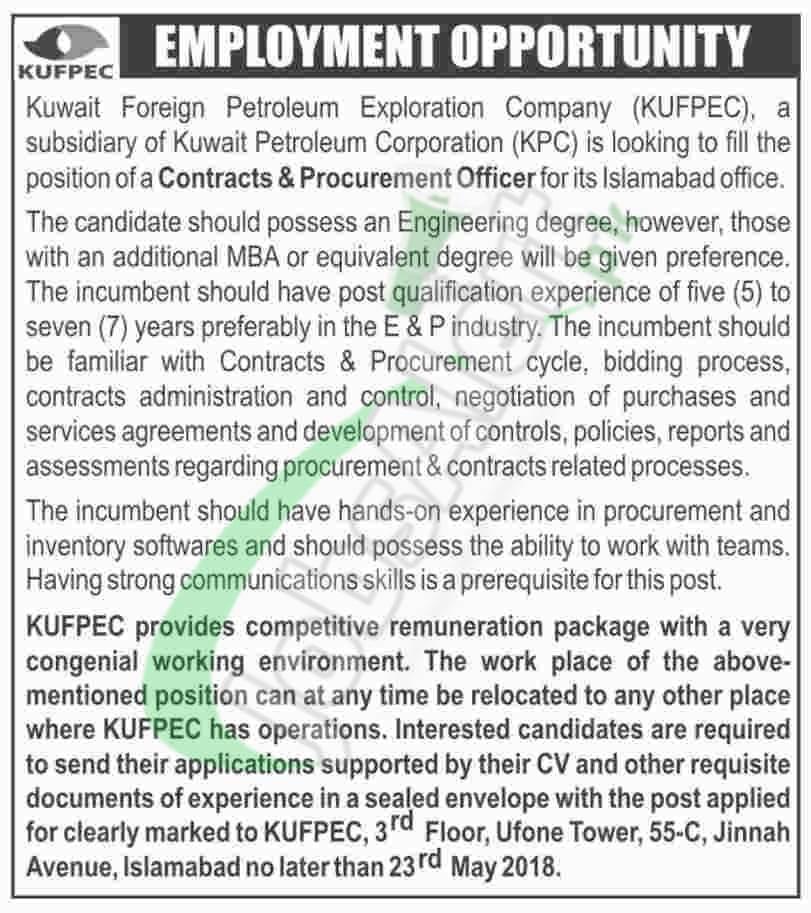 KUFPEC Jobs