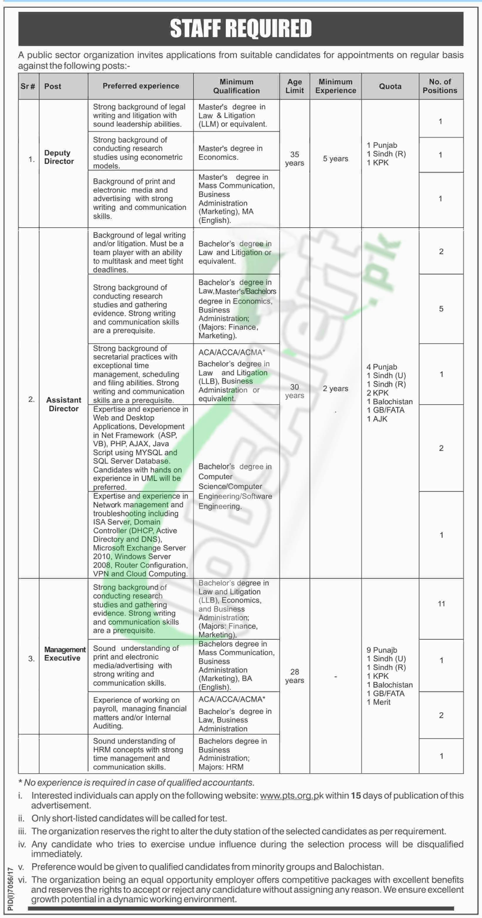 Public Sector Organization Jobs 2018