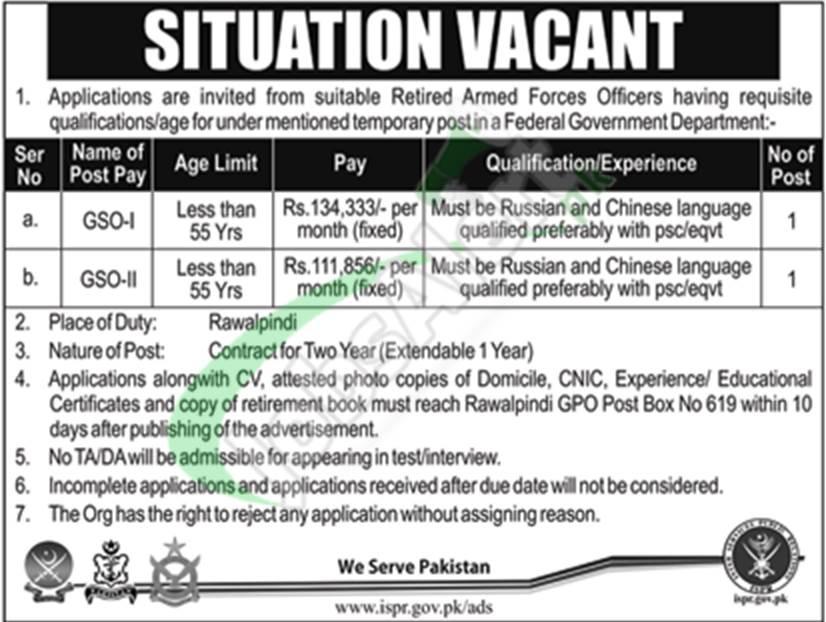 Pak Army Jobs