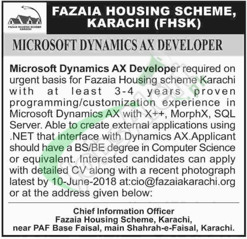 Fazaia Housing Scheme Karachi Jobs