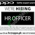 OPPO Jobs in Lahore 2018