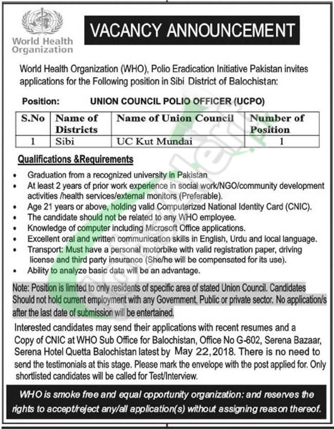 Polio Officer Jobs