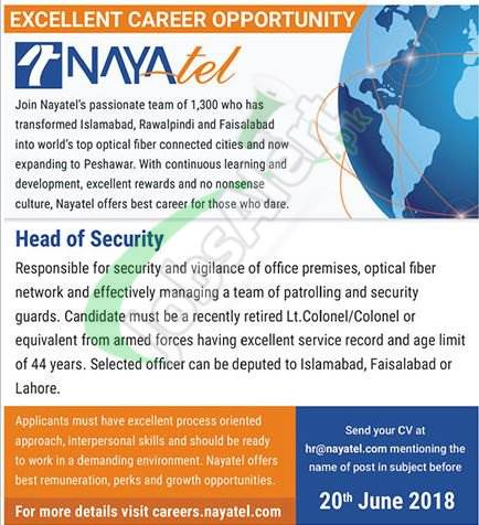 Nayatel Jobs