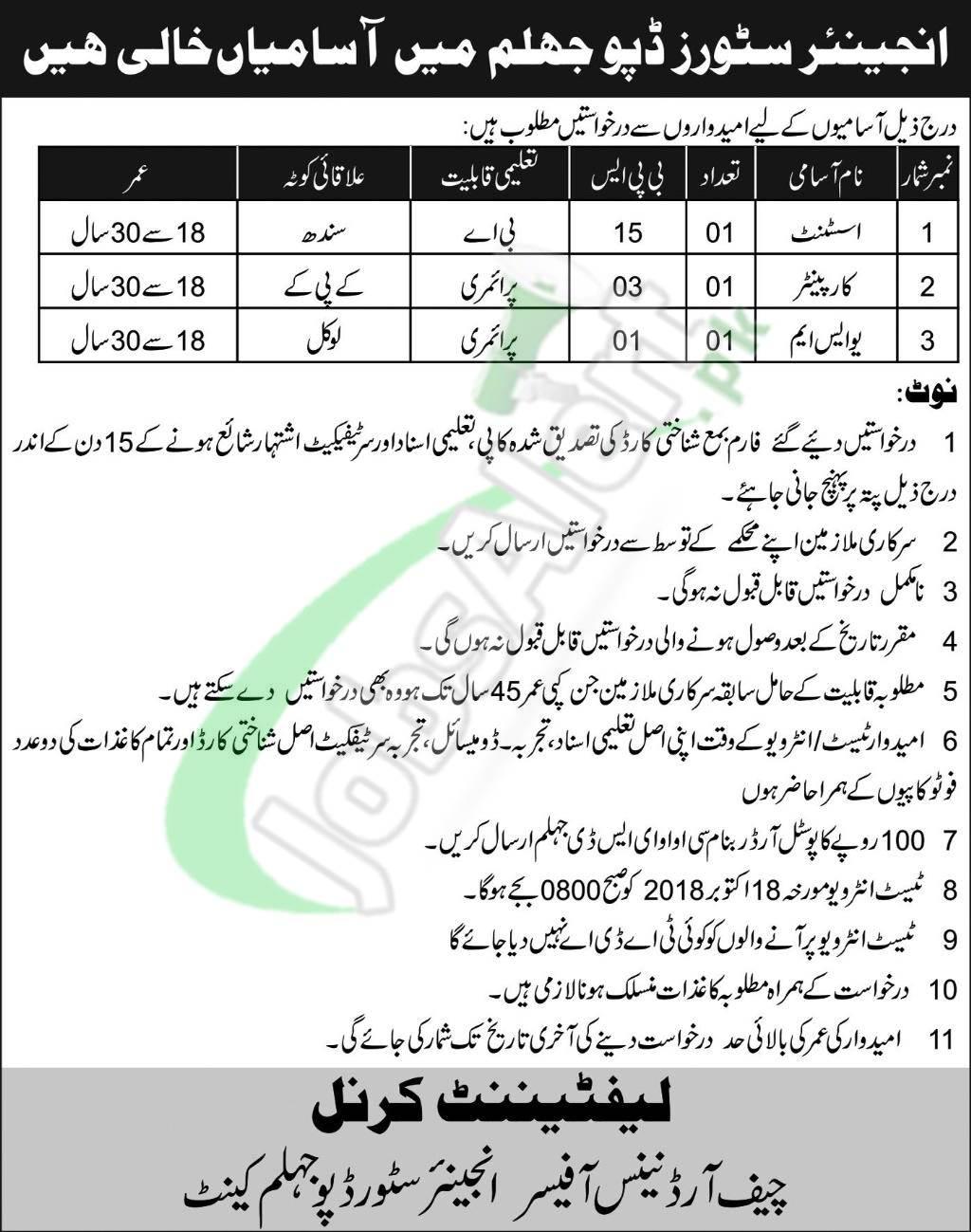 ESD Jhelum Jobs