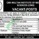 CMH Multan Institute of Medical Sciences Jobs
