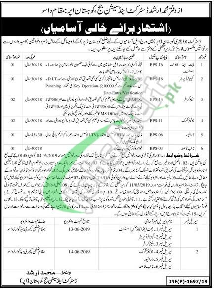 Session Court Kohistan Jobs