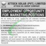 Attock Solar Pvt Limited Jobs