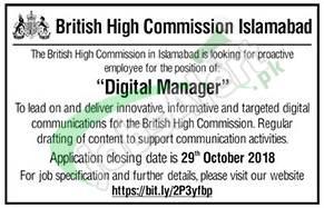 British High Commission Islamabad Jobs