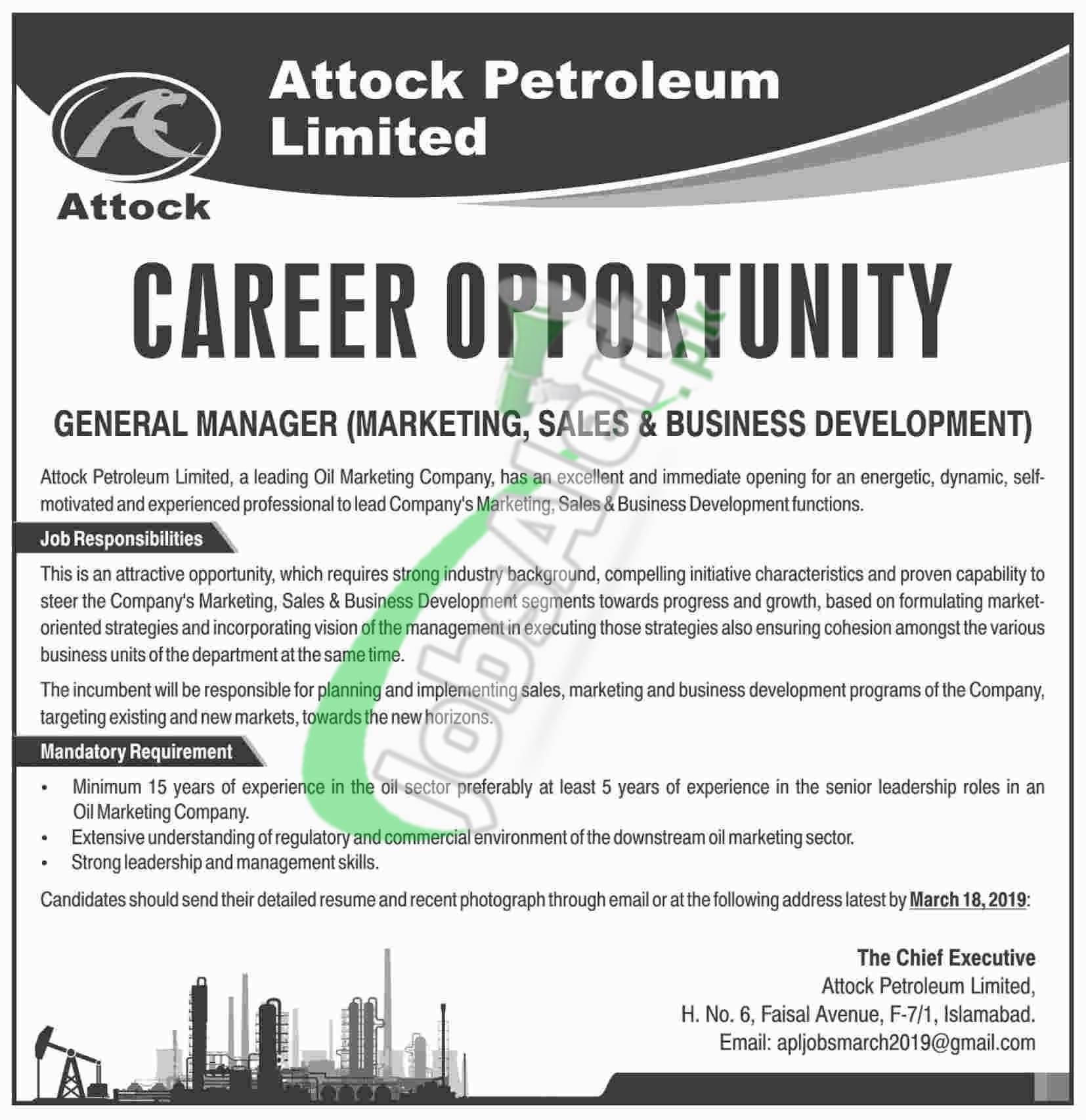 Attock Petroleum Limited Jobs
