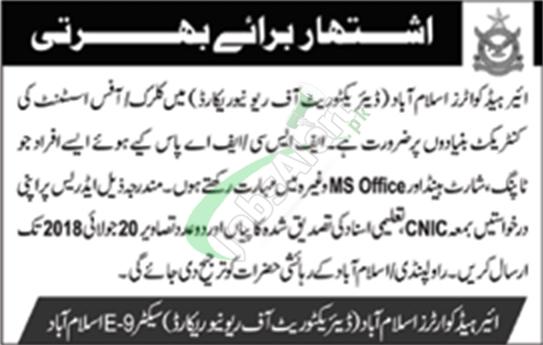 Air Headquarters Islamabad Jobs