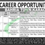 Bahria Town Karachi Jobs August 2018
