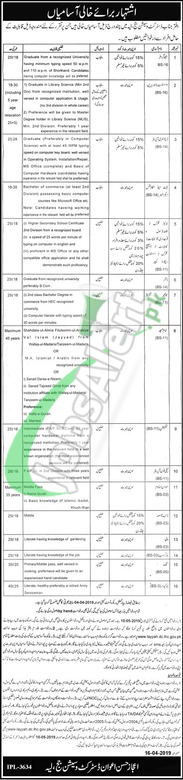 Session Court Layyah Jobs 2019