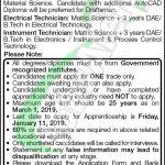 Engro Polymer Apprenticeship 2019