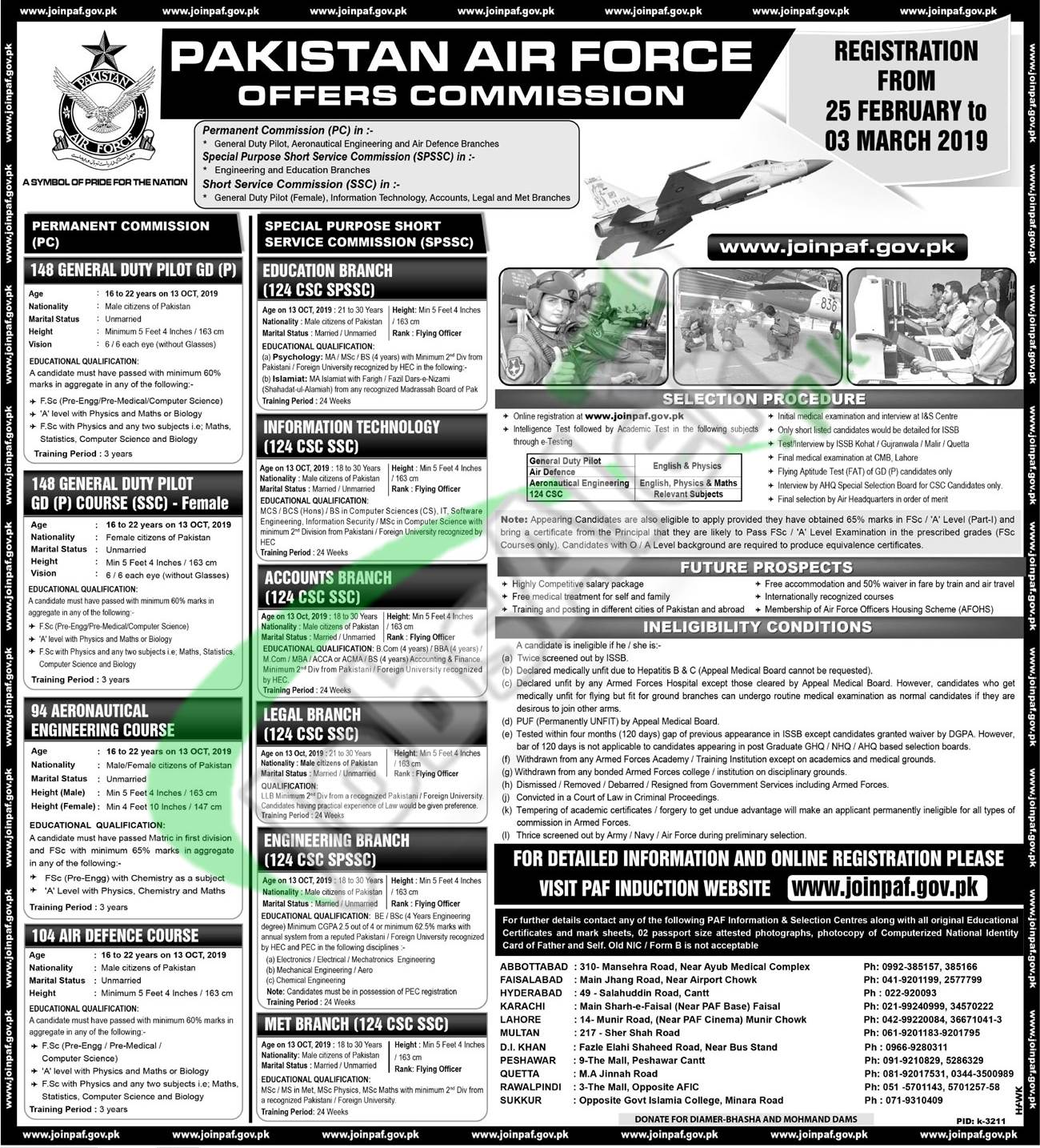 PAF GD Pilot Jobs 2019