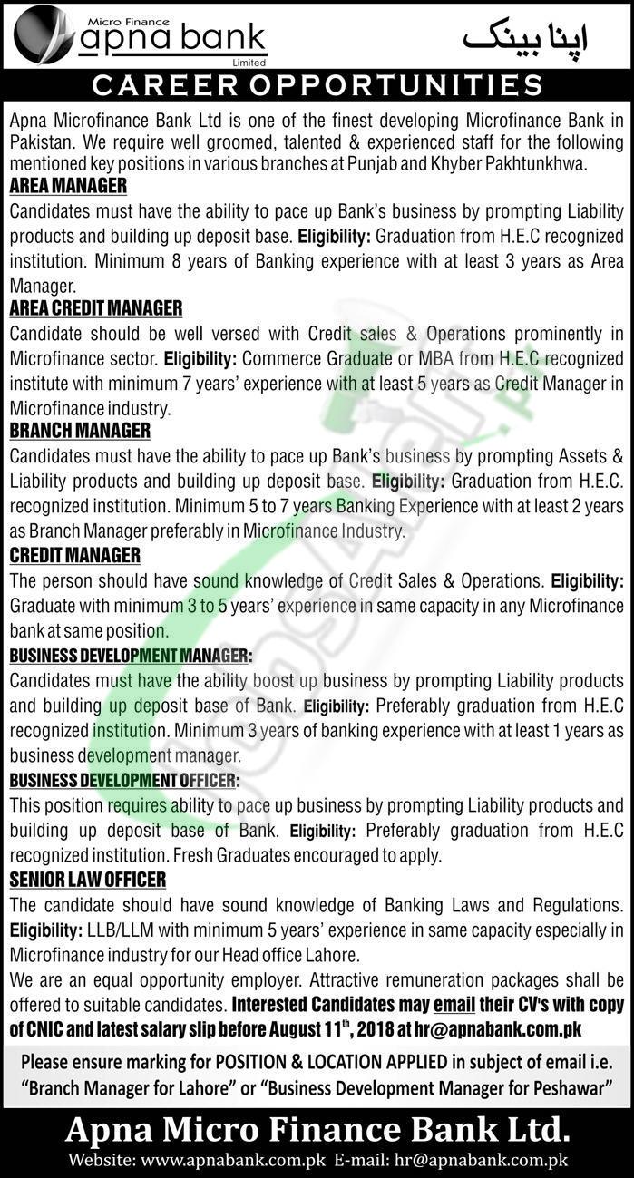 Apna Bank Jobs