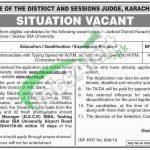 Session Court Karachi East Jobs 2019