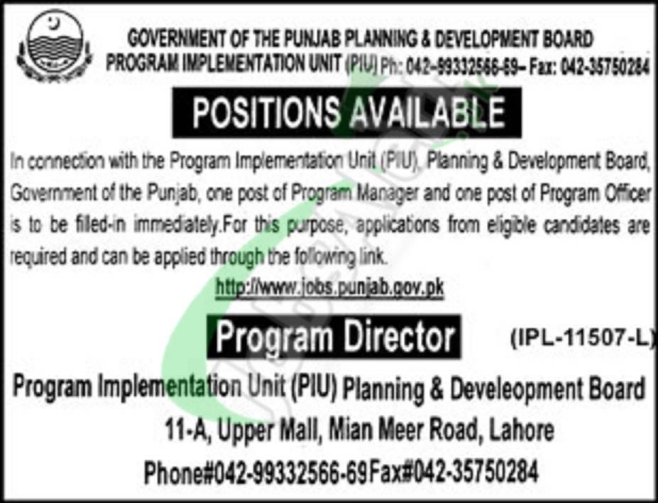 Punjab Planning and Development Board Jobs