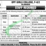 OPF Girl College Islamabad Jobs