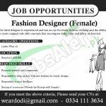 Fashion Designer Jobs in Lahore