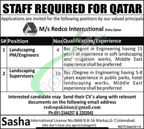 REDCO Qatar Jobs