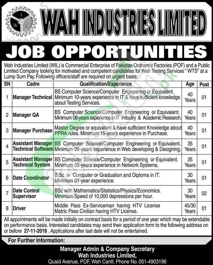 WAH Industries Jobs