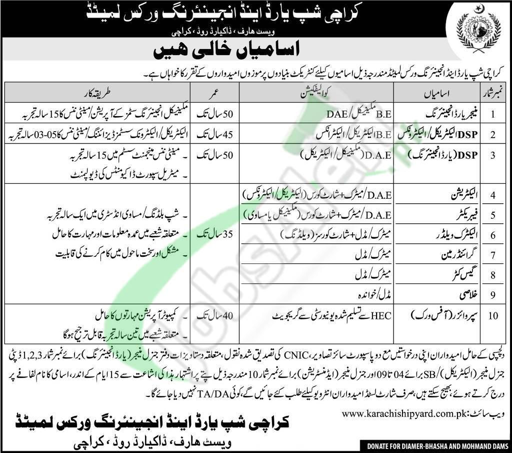 Karachi Shipyard Job